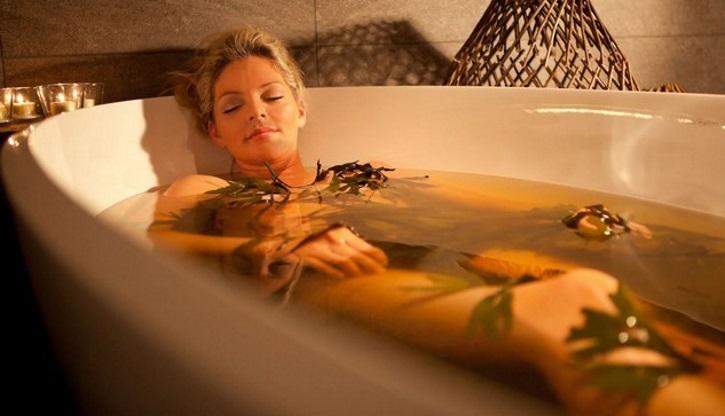 травяная ванна на основе календулы