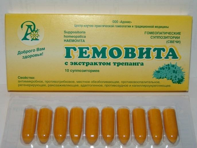 Свечи Тукофитомол-Гемовита применяются при миоме