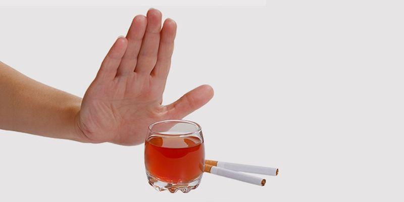 Отказ от сигарет и алкоголя при эндометриозе